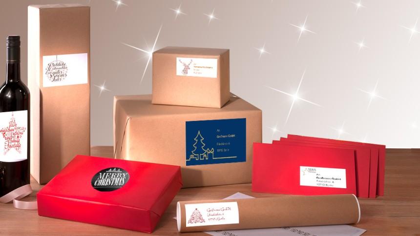 Weihnachtsmotive Für Adressaufkleber Geschenke Et Avery Zweckform