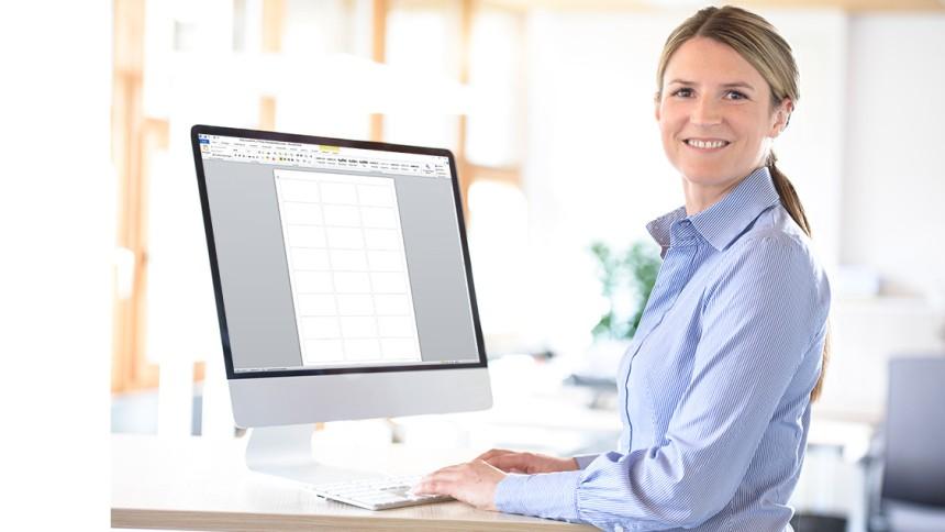 Gratis Vorlagen Für Microsoft Word Avery Zweckform