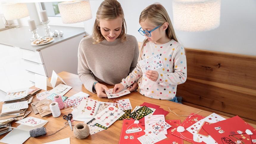 Originelle Weihnachtskarten Basteln.Weihnachtskarten Basteln Mit Kindern Avery Zweckform