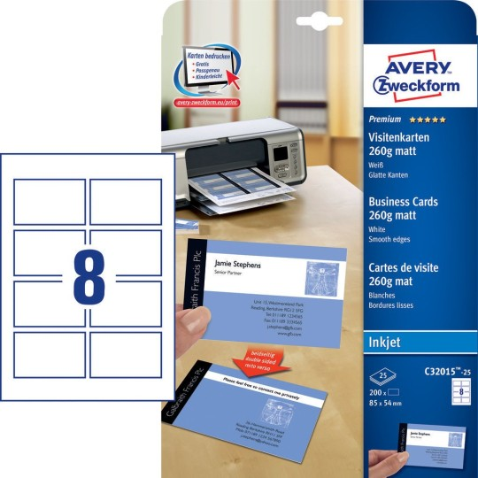 Visitenkarten Online Drucken Lassen Avery Zweckform