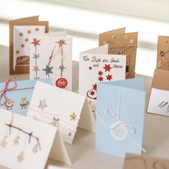 Weihnachtskarten Mit Sternen Basteln.Weihnachtskarten Basteln Mit Kindern Avery Zweckform