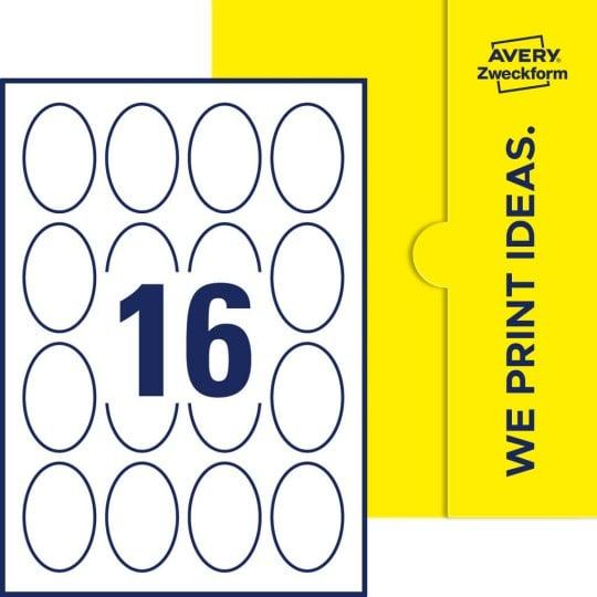 Ovale Etiketten 45 X 65 Mm Avery Zweckform