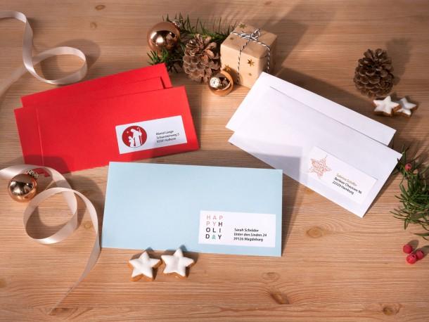 Briefe Dekorieren Zip : Weihnachtlich dekorieren avery zweckform