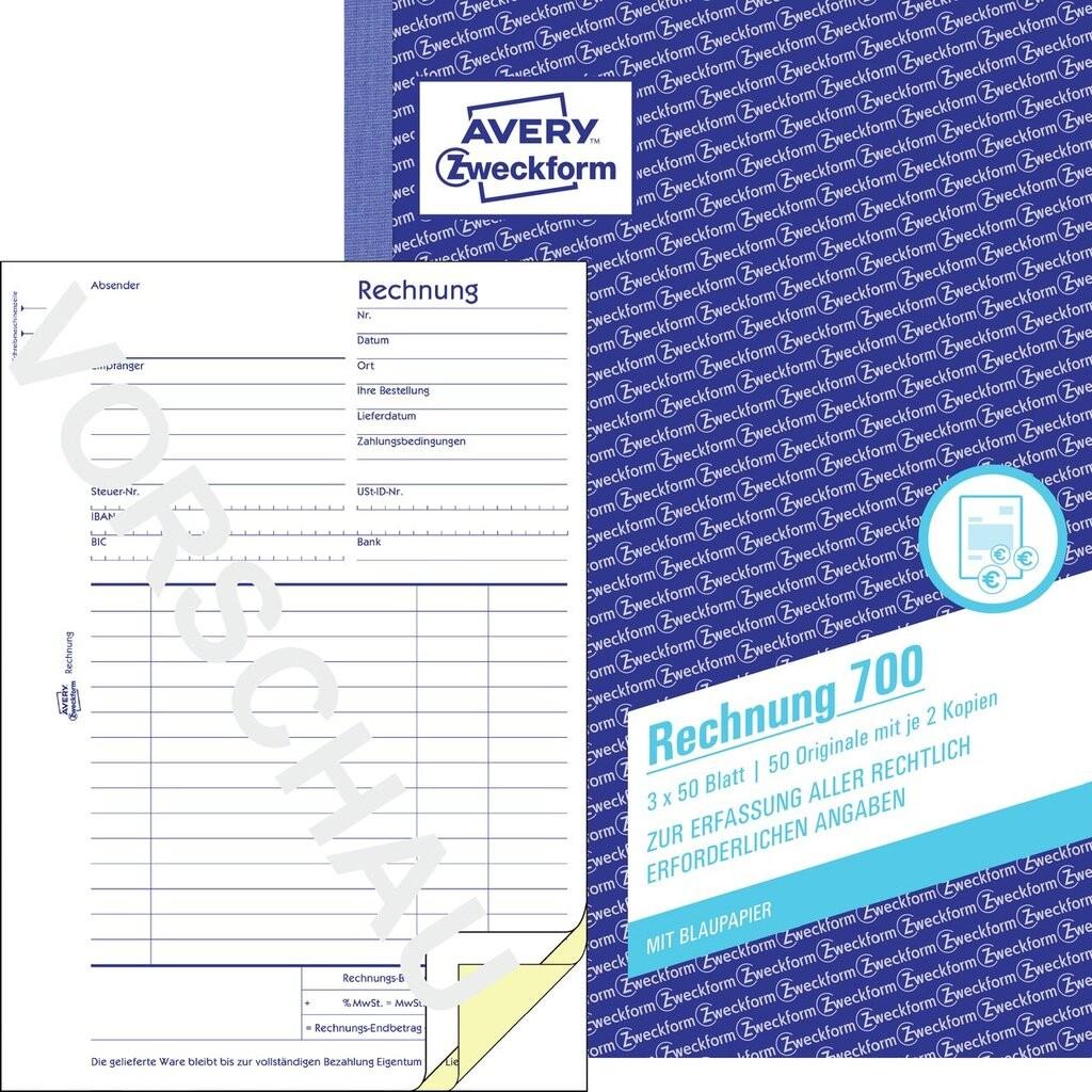 Rechnung 700 Avery Zweckform