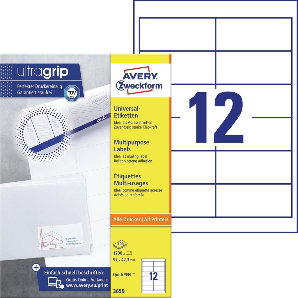 Universal-Etiketten | 3659 | Avery Zweckform