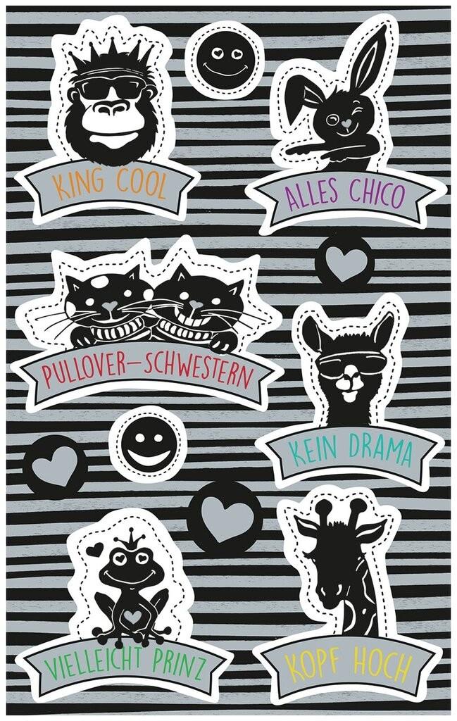 Deko Sticker Coole Tiere Mit Sprüchen 57082 Avery