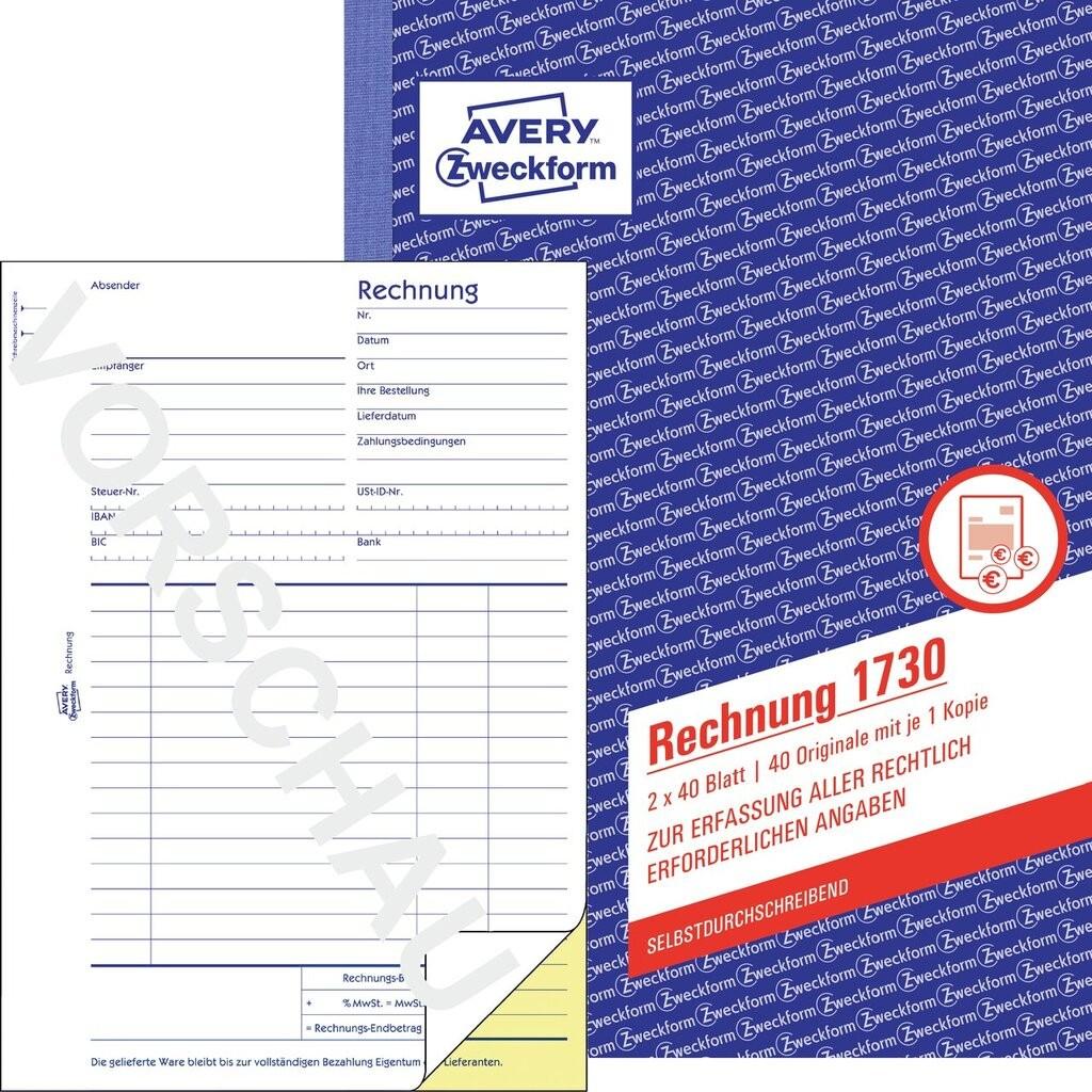 Rechnung 1730 Avery Zweckform