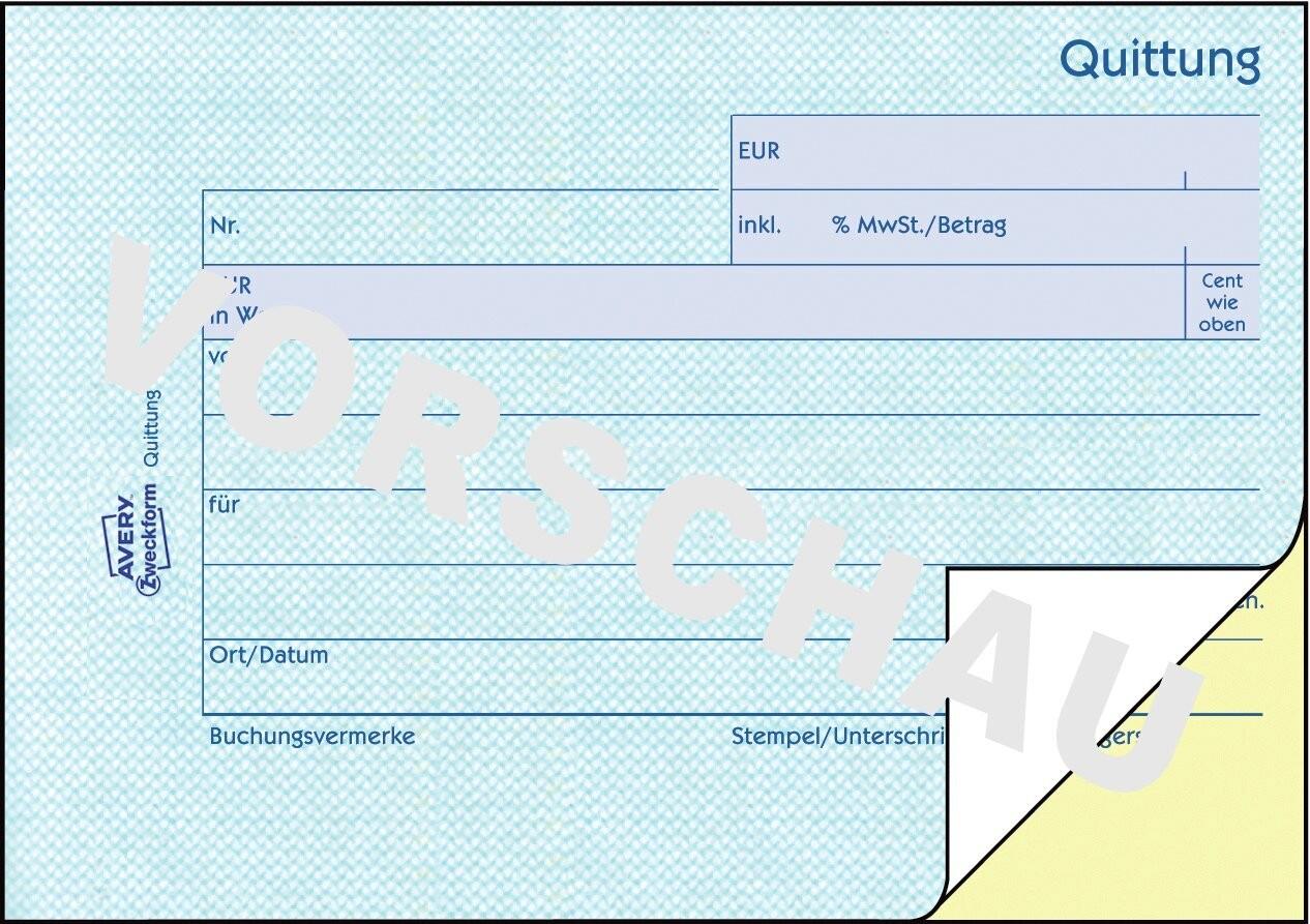 Quittung Inkl Mwst 1736 Avery Zweckform
