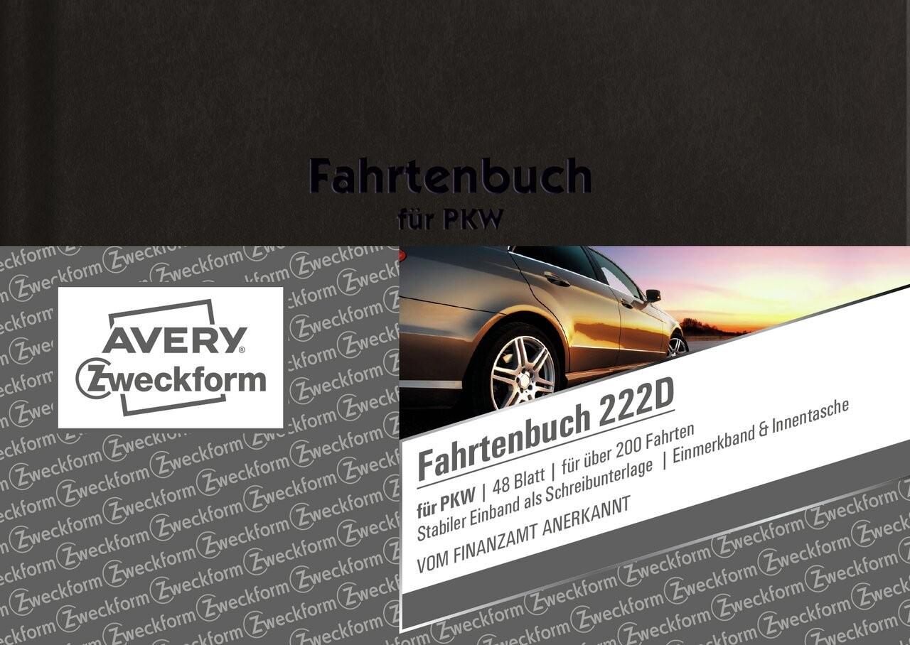 10 Fahrtenbücher Avery Zweckform 222D Fahrtenbuch A6 48 Blatt Hardcover Einband