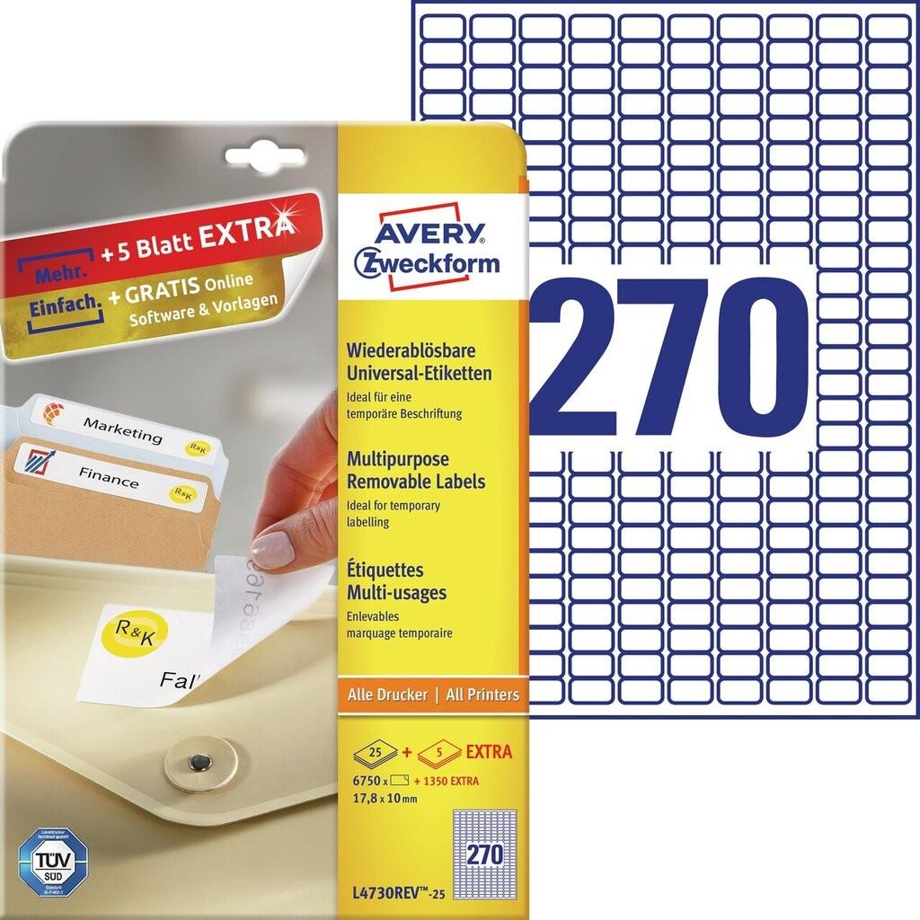 Universal etiketten l4730rev 25 avery zweckform for Avery etiketten