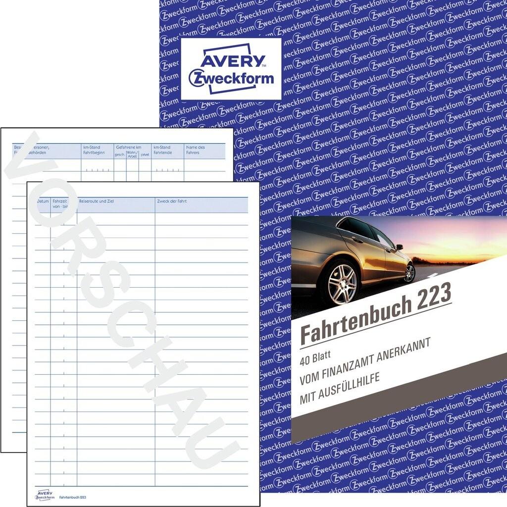 Avery Zweckform 222 Fahrtenbuch v Finanzamt anerkanntversandkostenfreineu
