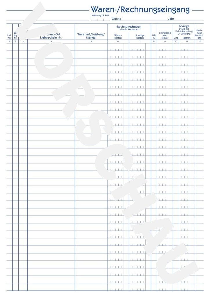 Waren-/Rechnungseingangsbuch | 930 | Avery Zweckform