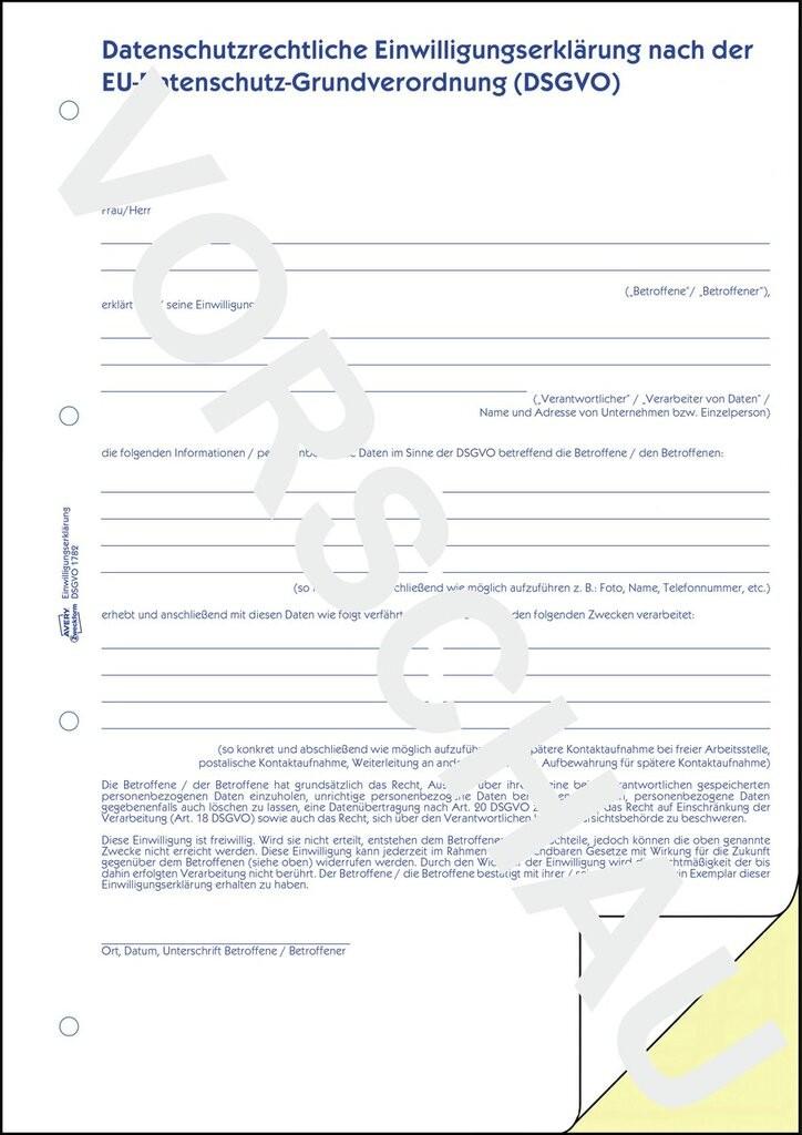 Datenschutzrechtliche Einwilligungserklärung Nach Der Dsgvo