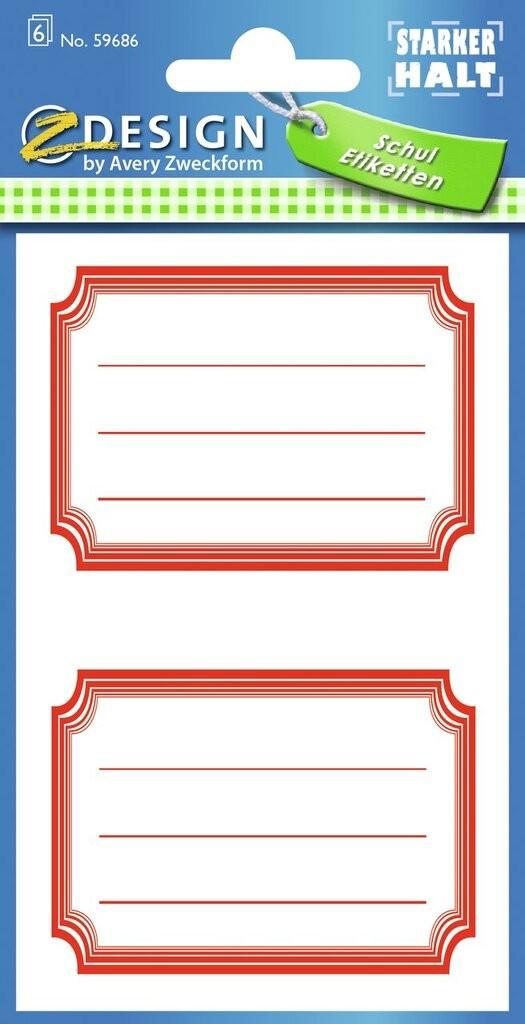 Buchetiketten | 59686 | Avery Zweckform
