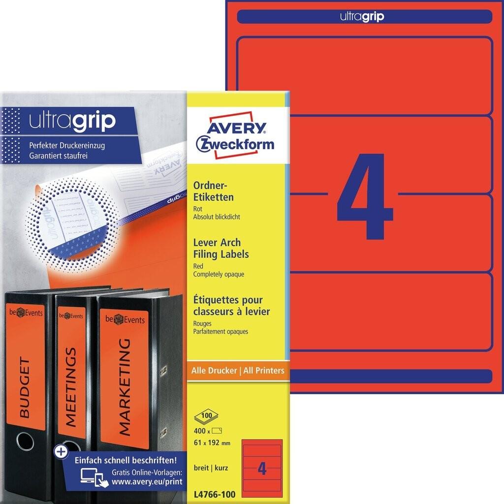 Ordneretiketten L4766 100 Avery Zweckform