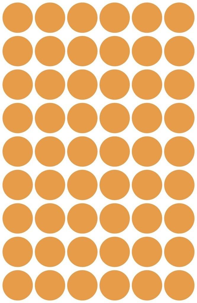 neon-orange Klebepunkte permanent 300 Papier-Etiketten A4 Bogen 60 mm rund