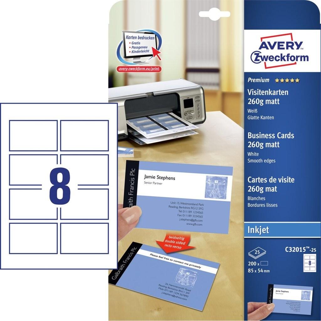 Visitenkarten C32015 25 Avery Zweckform