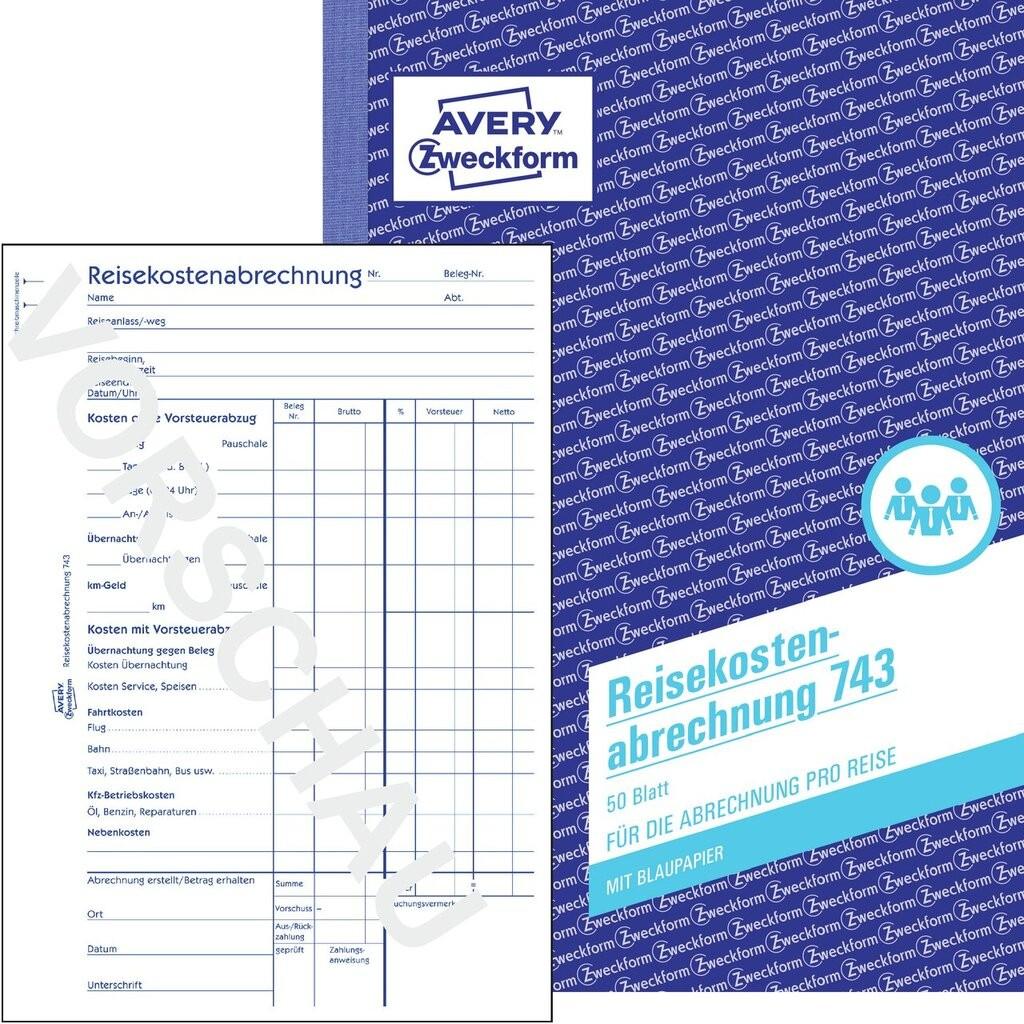 reisekostenabrechnung fr abrechnung pro reise a5 mit blaupapier 50 blatt - Muster Reisekostenabrechnung
