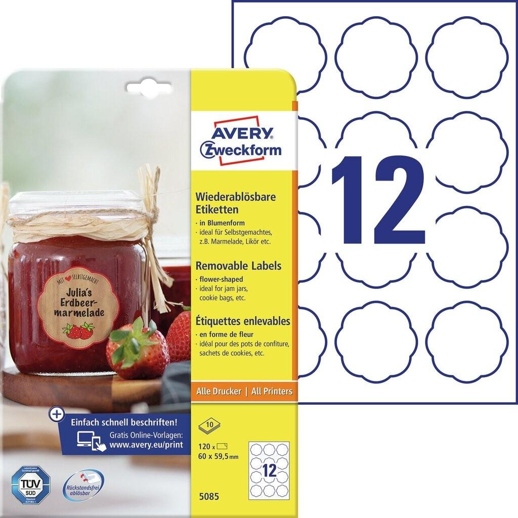 Marmeladenetiketten 5085 inhalt 120 etiketten 10 bogen