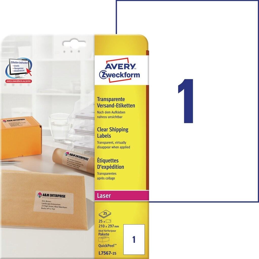 Versandetiketten l7567 25 avery zweckform for Avery etiketten