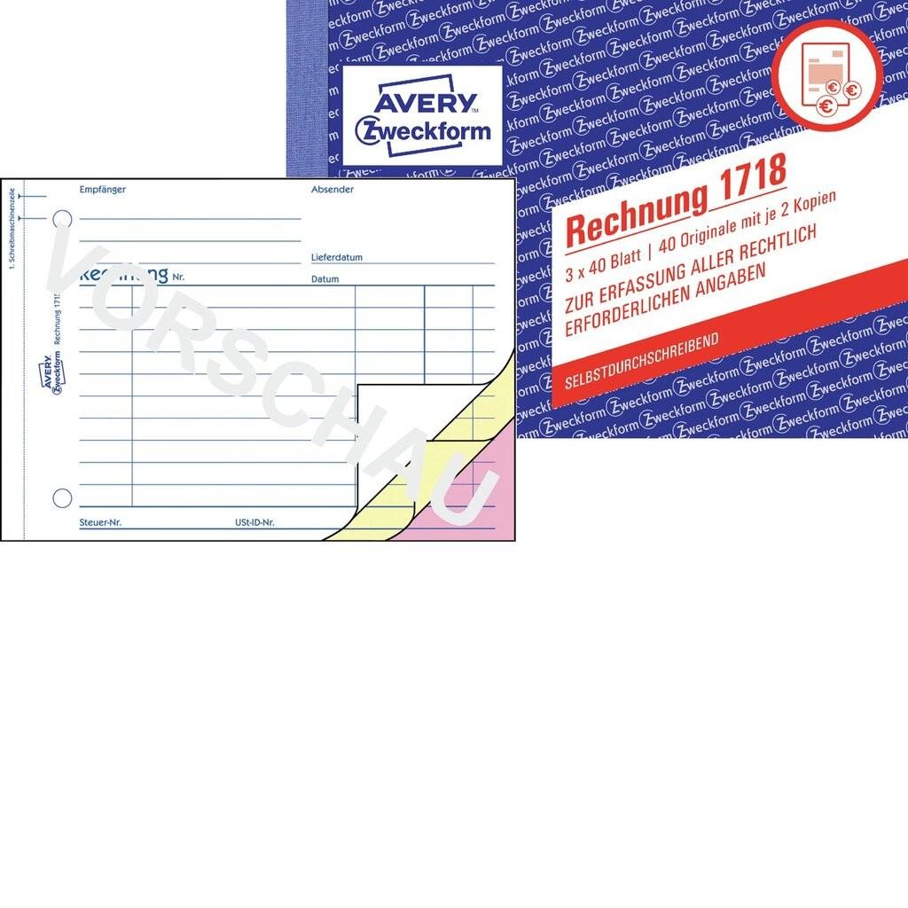 Rechnung 1718 Avery Zweckform