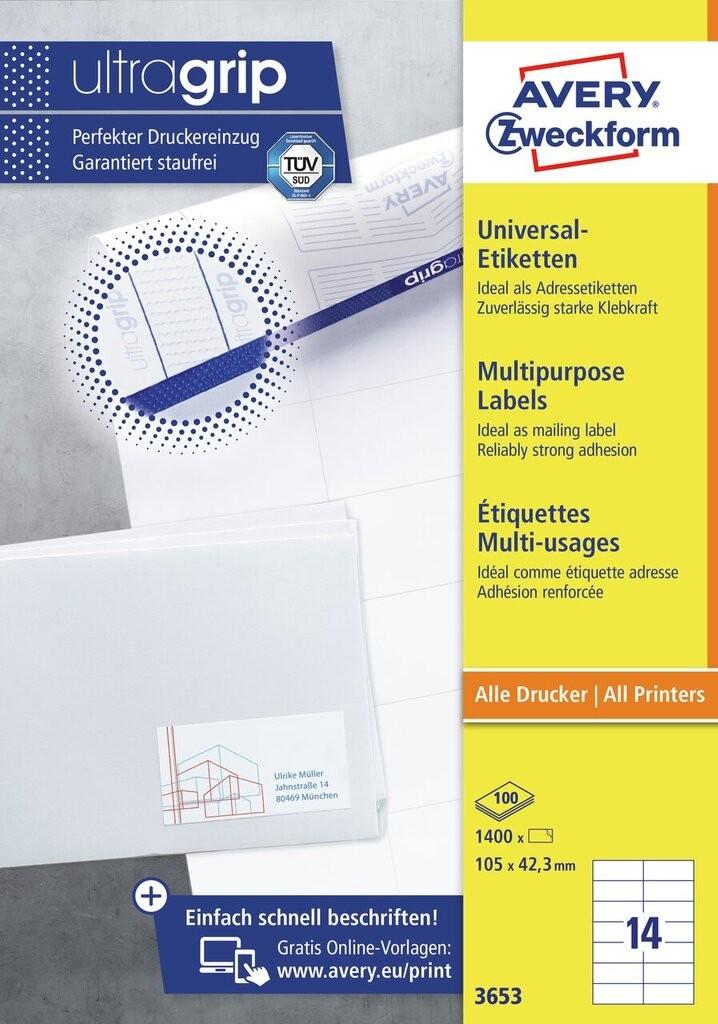Universal-Etiketten | 3653 | Avery Zweckform