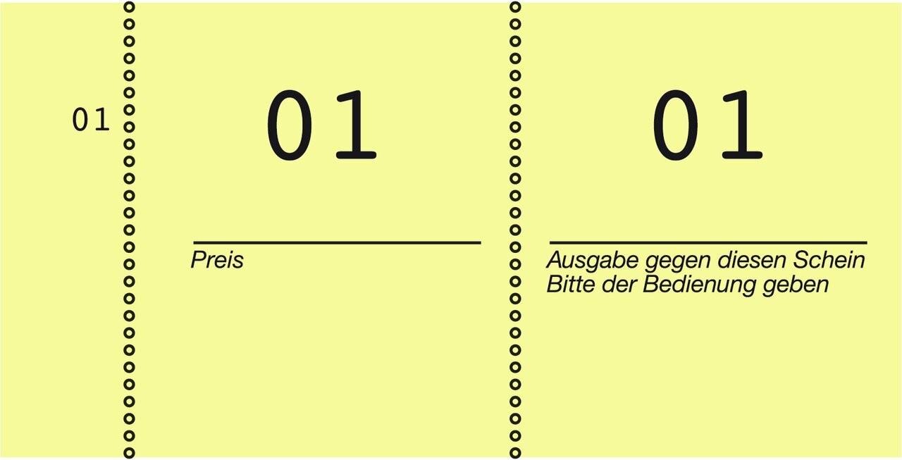 Nummernblock | 869-10-2 | Avery Zweckform