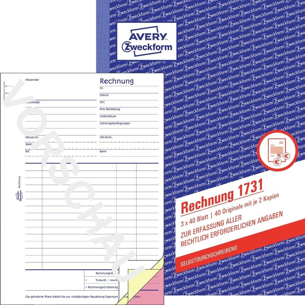Rechnung 1731 Avery Zweckform