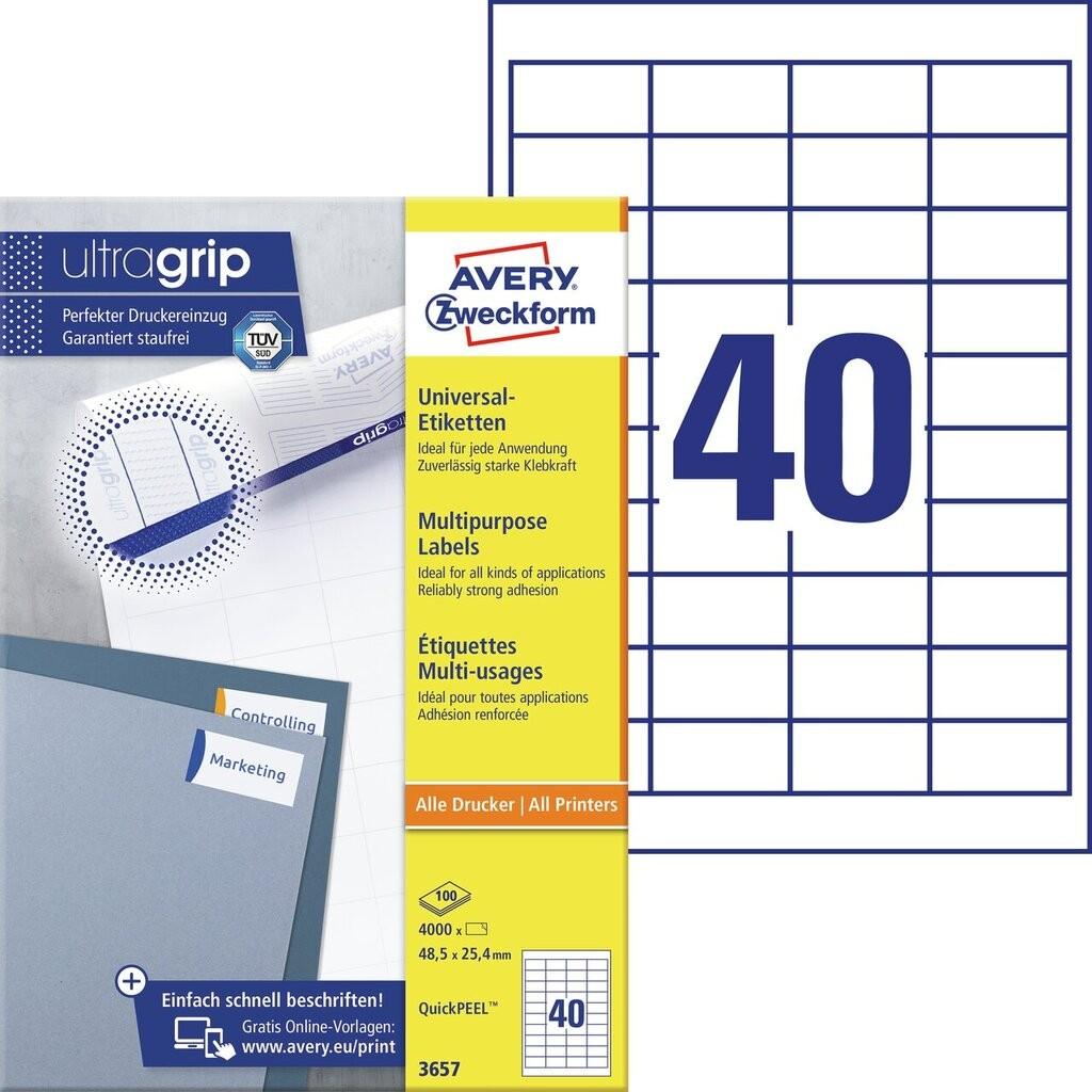 Universal-Etiketten | 3657 | Avery Zweckform