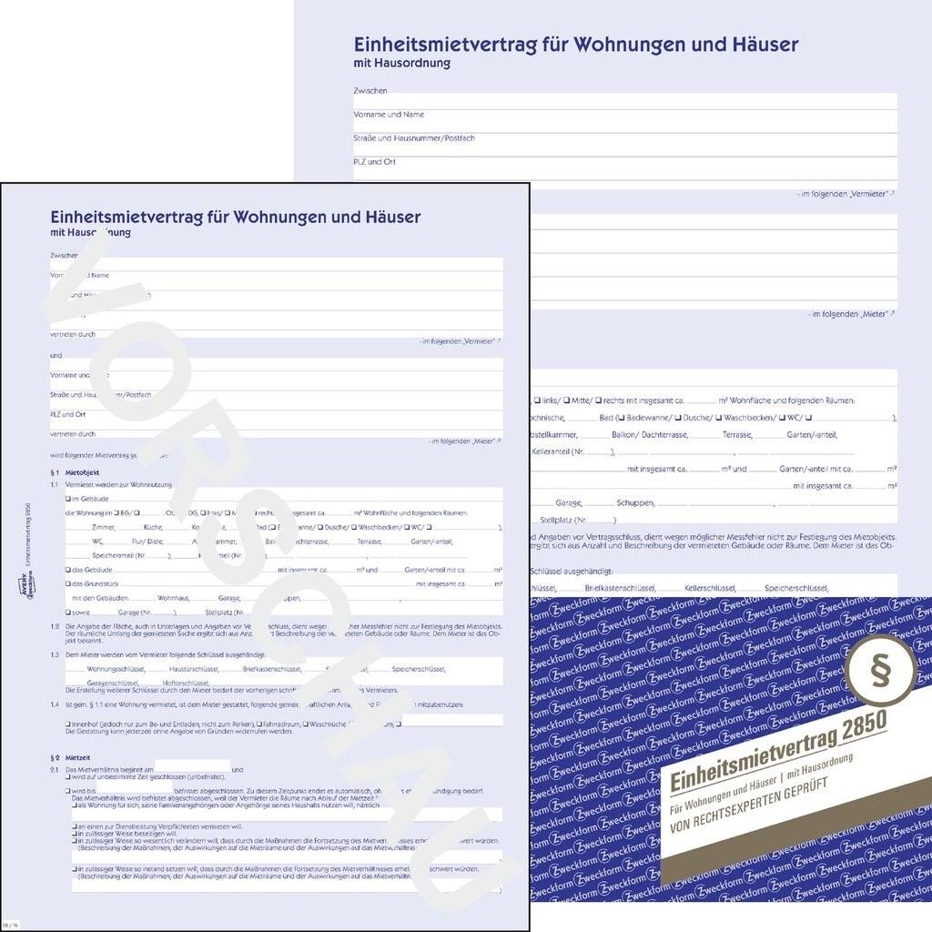 einheitsmietvertrag 2012