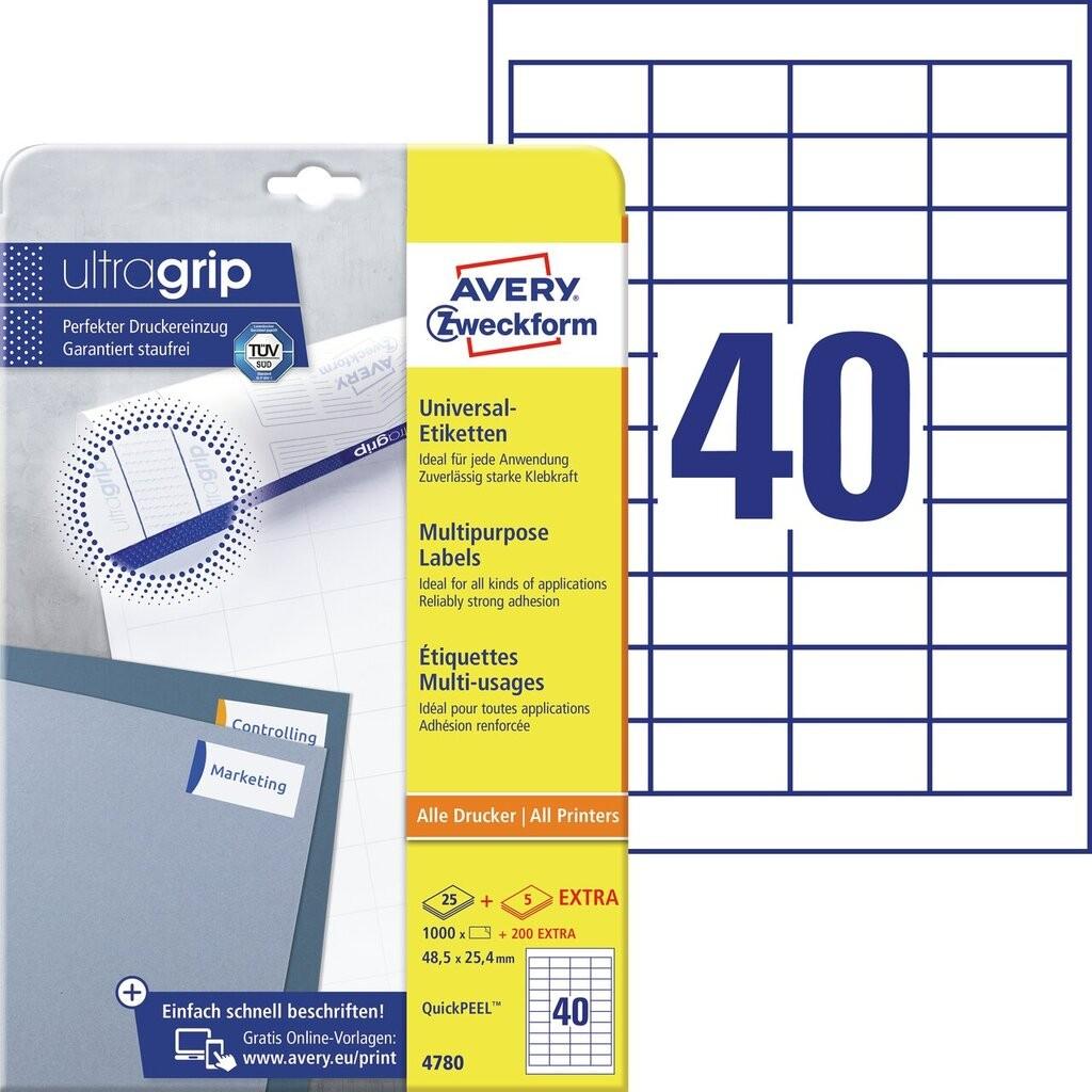 Universal Etiketten 4780 Avery Zweckform