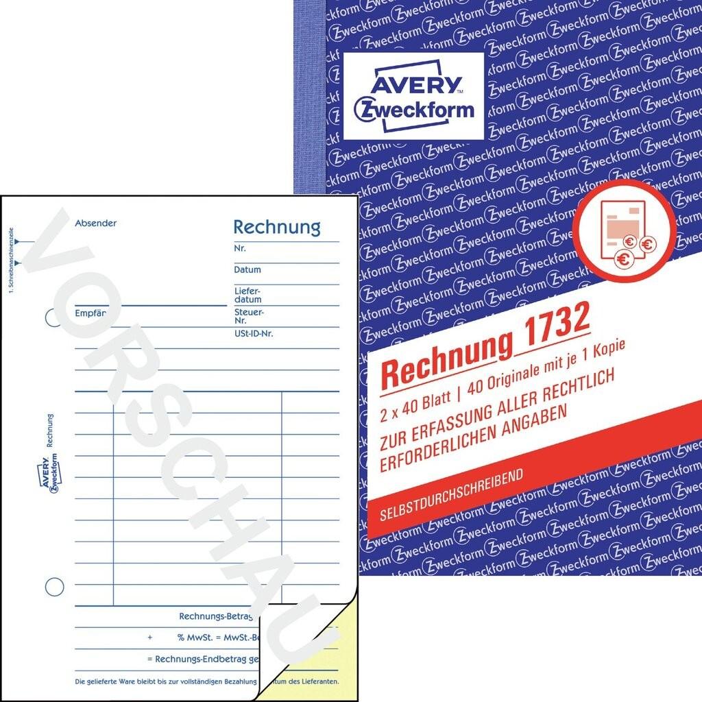 Rechnung 1732 Avery Zweckform