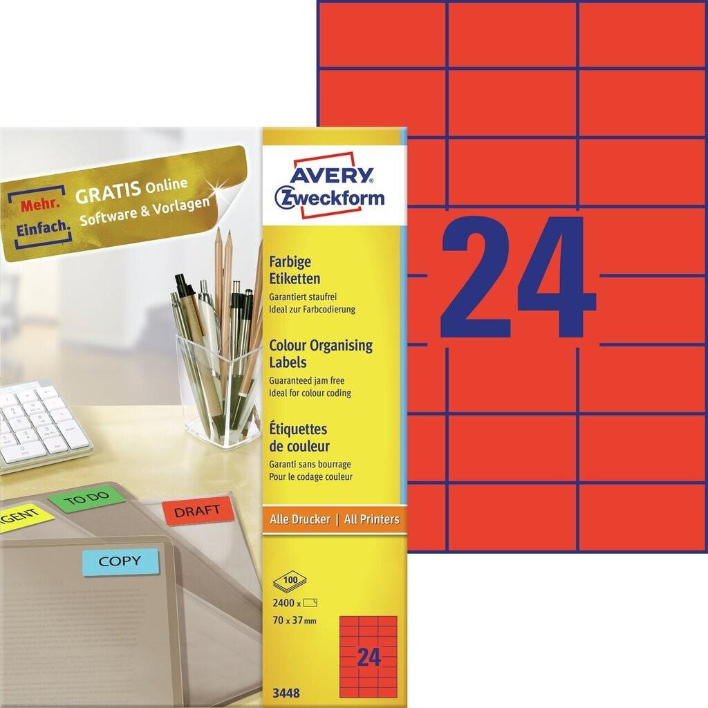 Organisations etiketten 3448 avery zweckform for Avery etiketten