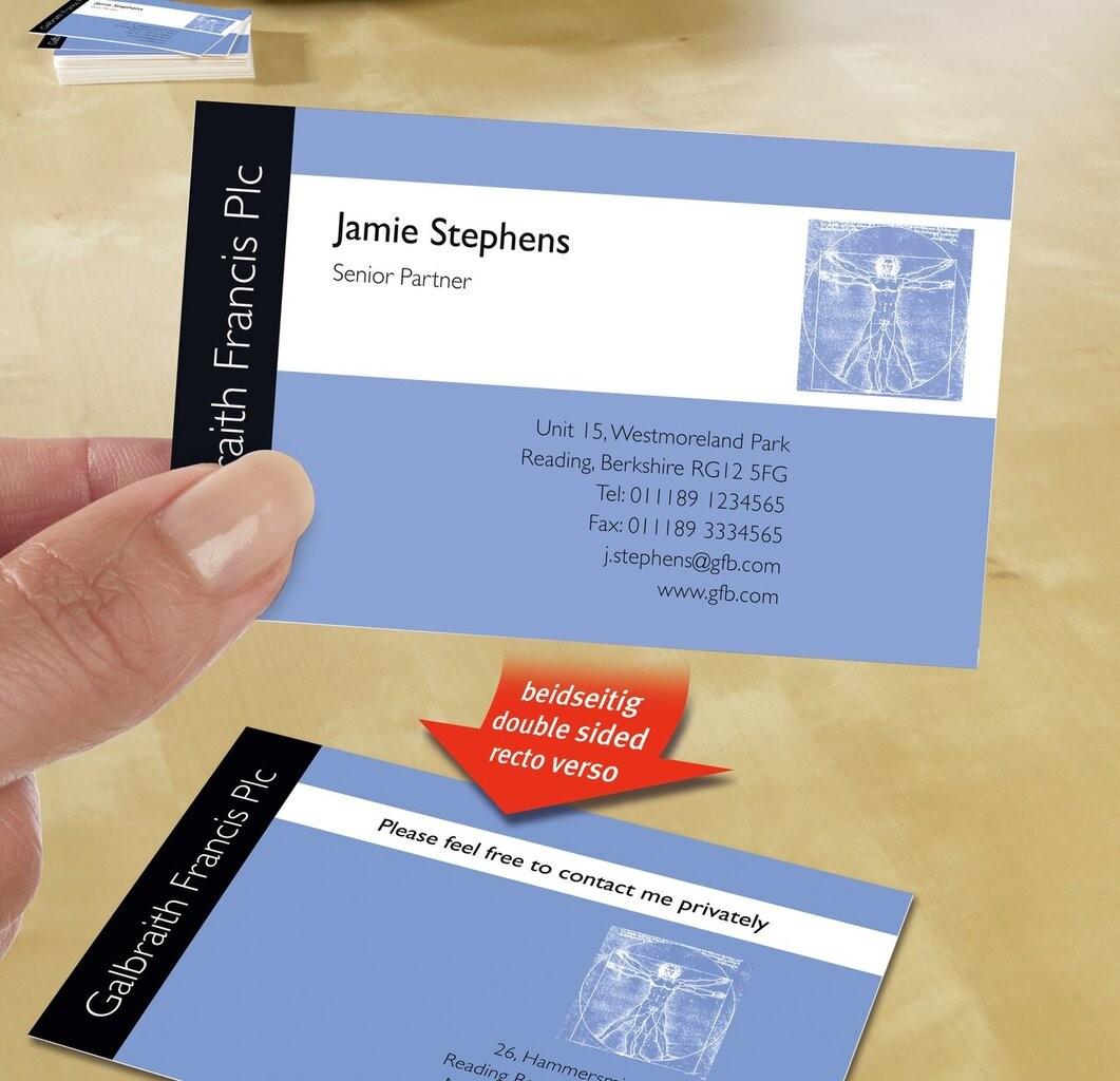 Visitenkarten C32015 10 Avery Zweckform