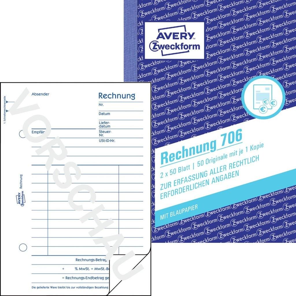 Rechnung 706 Avery Zweckform