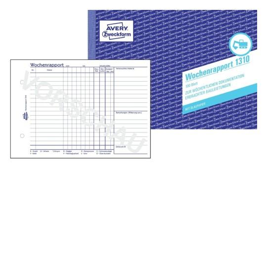 AVERY Zweckform Formulare Formularbuch 706 Rechnung Vordrucke Nachweiss!