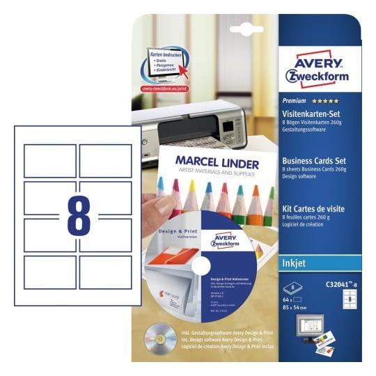Visitenkarten Set C32041 8 Inhalt 64 Karten Bogen