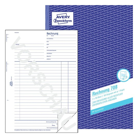 Rechnung Für Warenwirtschaft Buchhaltung Steuer Avery Zweckform