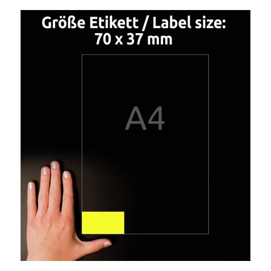 AVERY Zweckform wetterfeste Etiketten 70 x 37 mm gelb 480 Etiketten