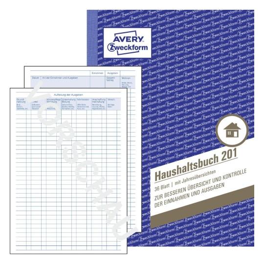 haushaltsbuch 201 avery zweckform. Black Bedroom Furniture Sets. Home Design Ideas