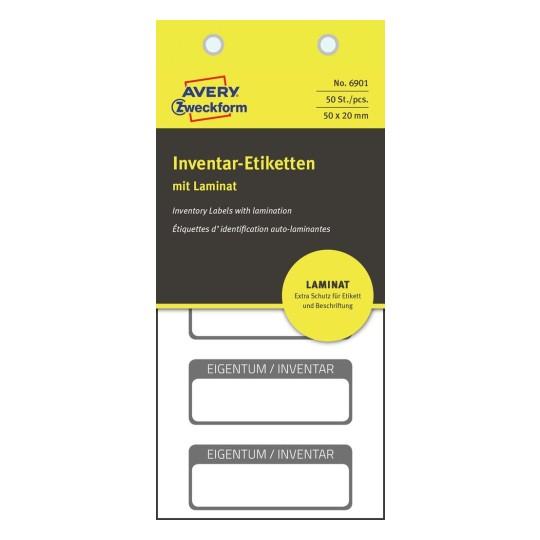 Inventaretiketten Mit Laminat 6901 Avery Zweckform