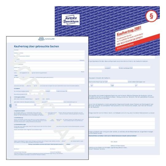 formular für kaufvertrag | avery zweckform - Küche Verkaufen Vertrag