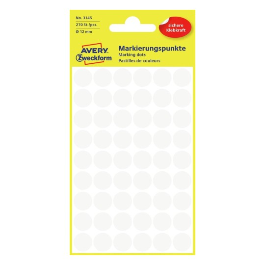 Spender AVERY Zweckform Markierungspunkte gelb 10 mm