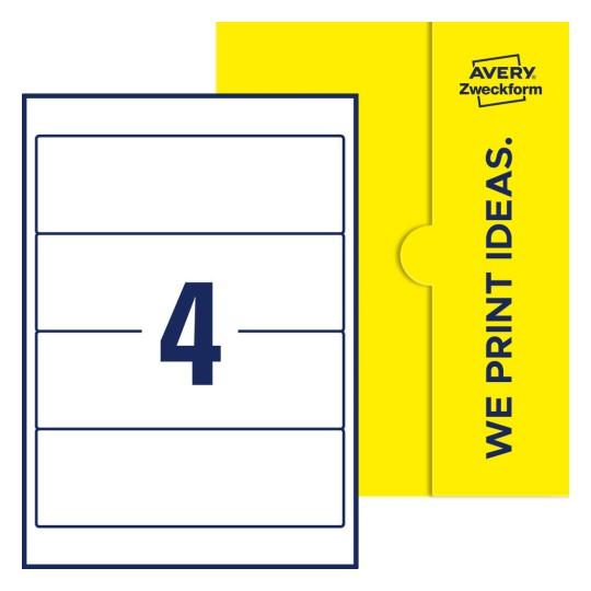 59 x 297 mm AVERY Zweckform Ordnerrücken-Etiketten weiß