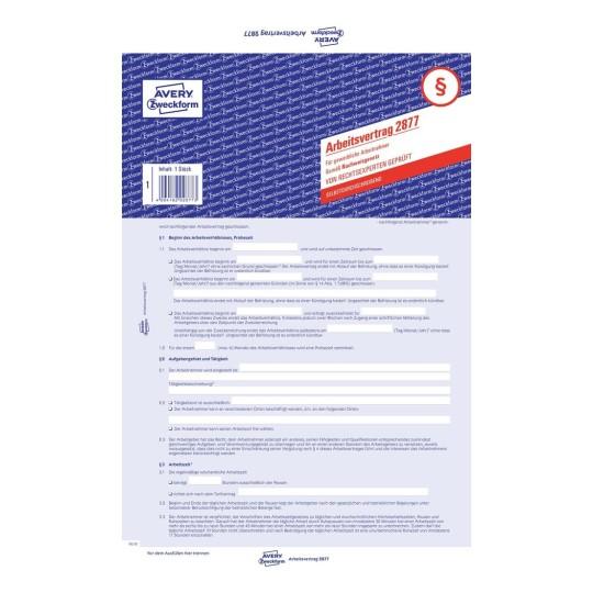 Formular Für Arbeitsvertrag Avery Zweckform