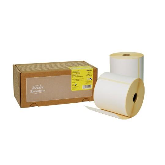 1 Stapel // 500 Etiketten Thermo-Etiketten Versand-Etiketten 101 x 152 mm permanent klebend Fanfold Versand-Etiketten wei/ß Verpackungsetiketten f/ür direkte Thermodrucker