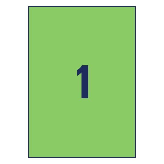 """Universal-Etiketten 210 x 297 mm A4 /""""grün/"""" AVERY Zweckform 3472"""