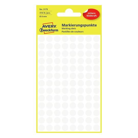 Avery Zweckform Markierungspunkte Etiketten farbig 8mm 416 Stück Markierung