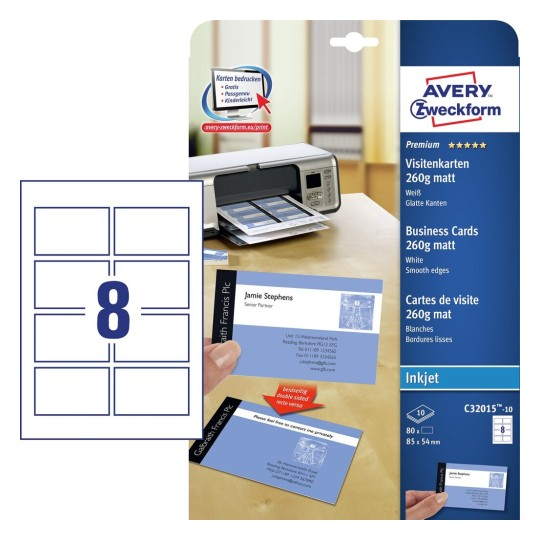 Visitenkarten Bedrucken Avery Zweckform