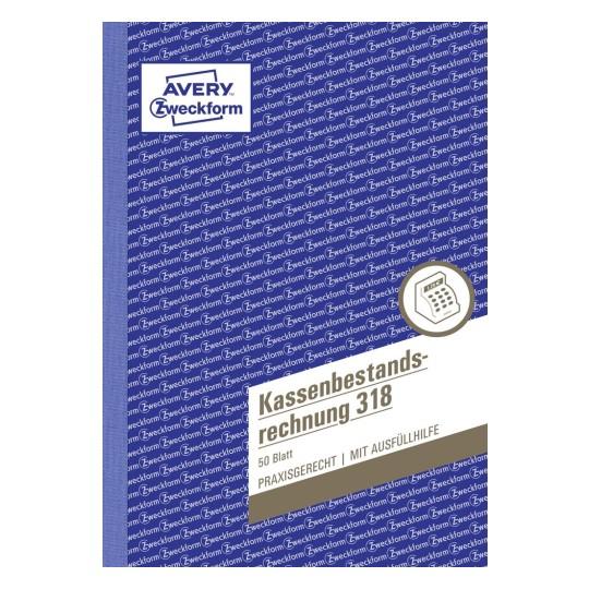 Avery Zweckform 318 Kassenbericht Kassen Formular Buchführung A5 Kasse Bericht